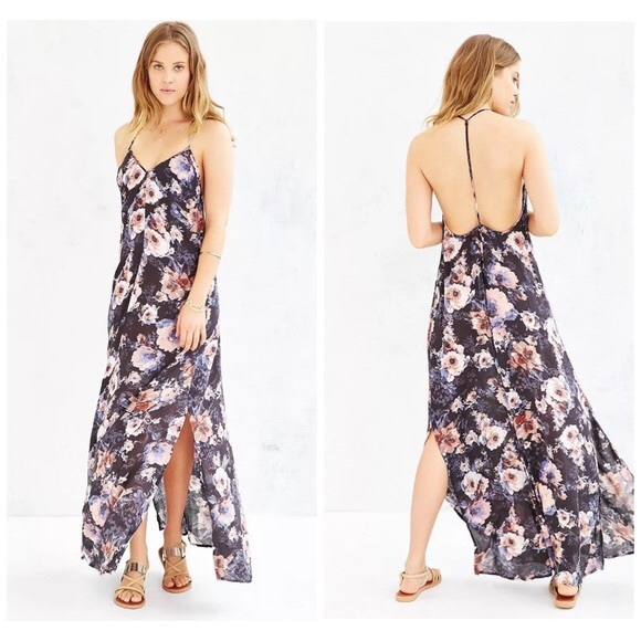 Band of Gypsies Dresses & Skirts - Band of Gypsies T strap floral maxi dress
